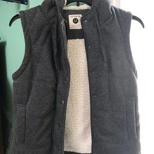Winter vest with fur